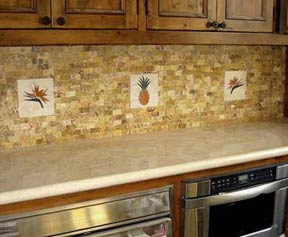 pineapple deco installed in kitchen wall