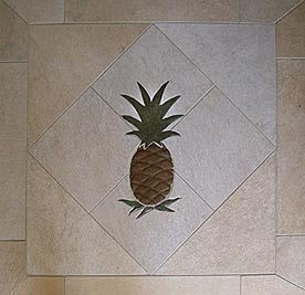 pineapple entry mural installed