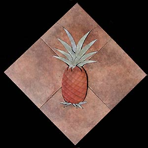 pineapple floor mural
