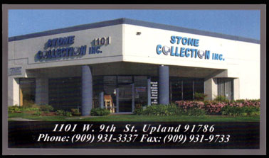 business card of stone collection inc