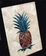 pineapple tile mural