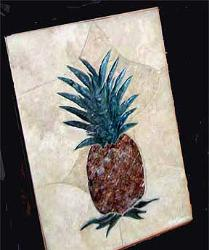 delux carved pineapple mural