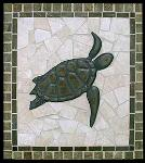 turtle with border splash mural