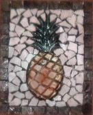 mosaic carved pineapple