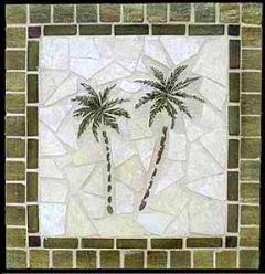 Palm Tree Tile Murals Mosaics Accents And Decos Made Out
