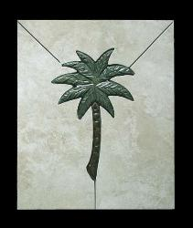 simple cut palm in solid background