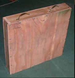 shipping crate showing east carry handles