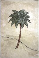 Tall single palm tree