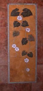 Tall floral vine shower wall mural