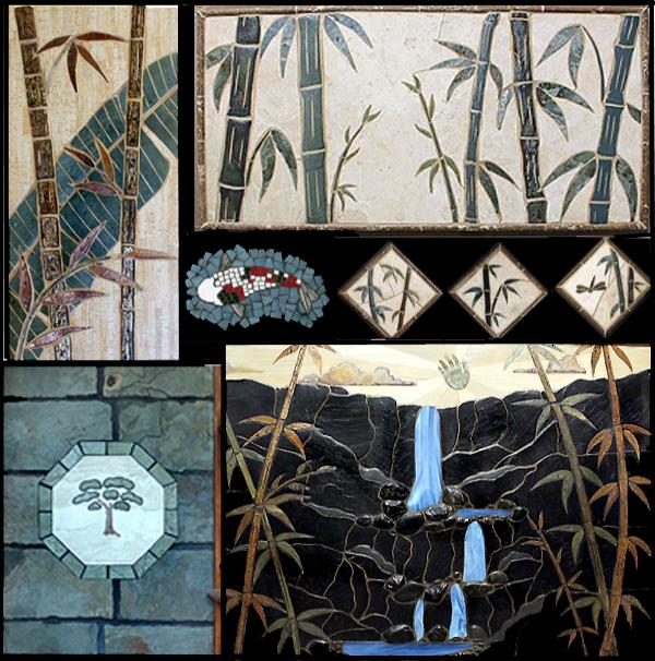 Bamboo Tile Murals For Walls And Floors Made By Makena
