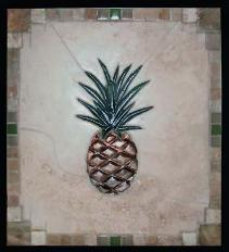 simple aztec bourder pineapple mural