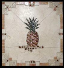 aztec bourder pineapple mural