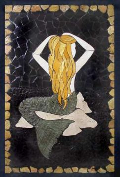 mermaid mosaic mural