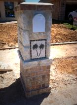 twin palm mail box mural